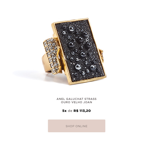 ANEL GALUCHAT STRASS OURO VELHO JOAN