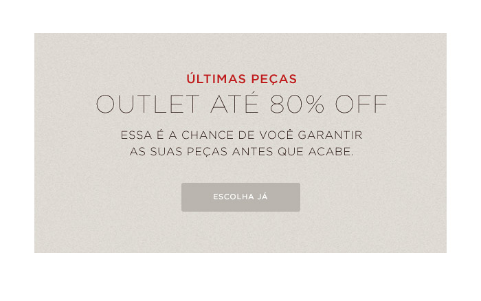 OUTLET ate 80% OFF