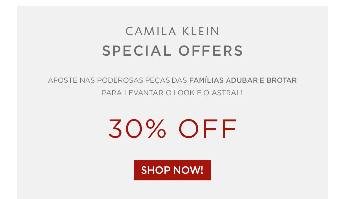 Special Offers 30% OFF