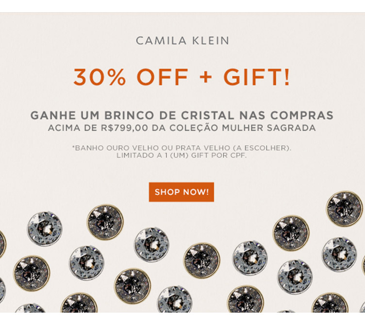30% OFF + GIFT!